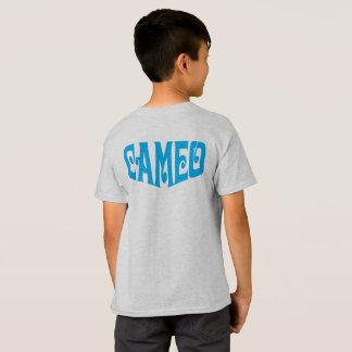 Camiseta de los niños con el logotipo azul del