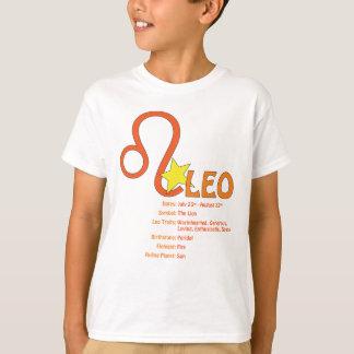 Camiseta de los niños de los rasgos de Leo