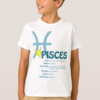 Camiseta de los niños de los rasgos de Piscis