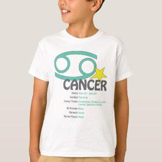 Camiseta de los niños de los rasgos del cáncer
