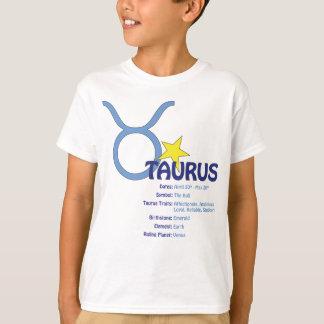 Camiseta de los niños de los rasgos del tauro