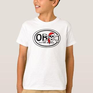 Camiseta de los niños del cráneo de OBX y del
