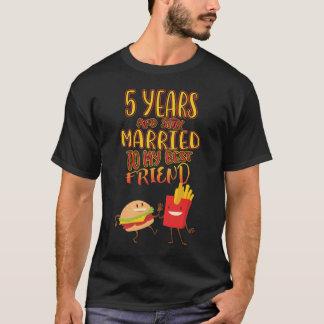 Camiseta de los pares por 5 años de aniversario