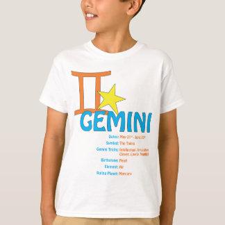 Camiseta de los rasgos de los géminis