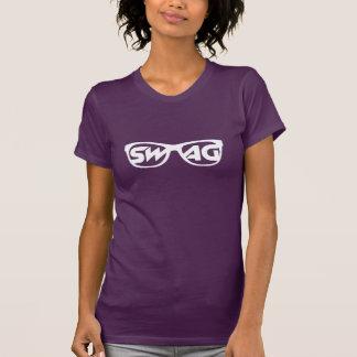Camiseta de los vidrios del Swag