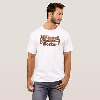 Camiseta de madera de la diversión del trabajador
