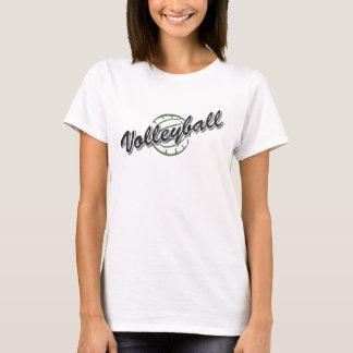camiseta de manga corta del voleibol de las