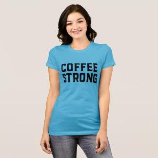 Camiseta de manga corta fuerte del café