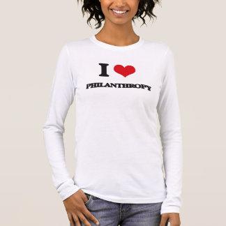 Camiseta De Manga Larga Amo la filantropía