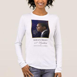 Camiseta De Manga Larga Barack Obama con presidente Kennedy Shirt