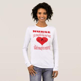 Camiseta De Manga Larga Bastante linda enfermera por la tolerancia