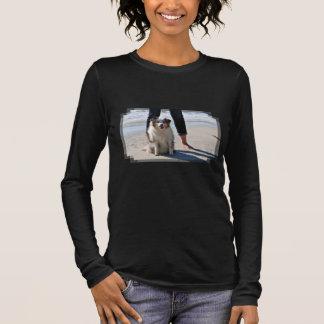 Camiseta De Manga Larga Bennett - mini australiano - Rosie - playa de