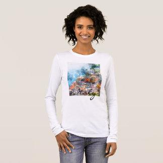 Camiseta De Manga Larga Cinque Terre Italia en la Riviera italiana
