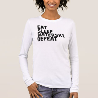 Camiseta De Manga Larga Coma la repetición de Waterski del sueño