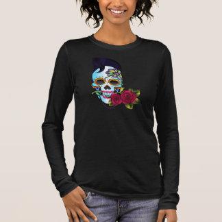 Camiseta De Manga Larga Cráneo del Rockabilly