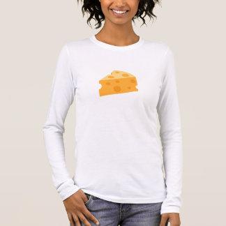Camiseta De Manga Larga Cuña Emoji del queso