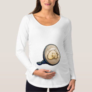 Camiseta de manga larga de pre-mamá, Blanco