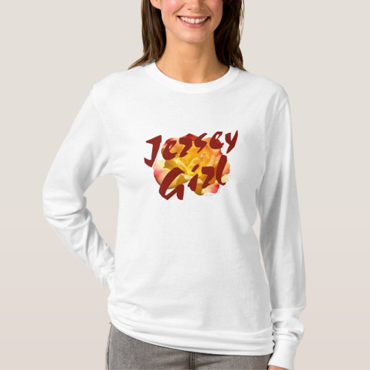 Camiseta de manga larga del chica del jersey