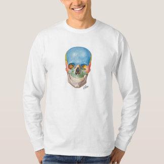 Camiseta de manga larga del cráneo del Netter