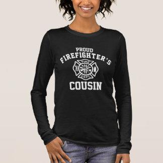 Camiseta De Manga Larga El primo del bombero orgulloso