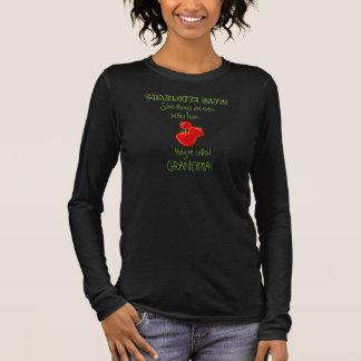Camiseta De Manga Larga Elogiando a la abuela, con el nombre del grandkid