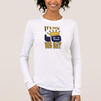 Camiseta De Manga Larga Es manga larga del ajuste cómodo de mis mujeres