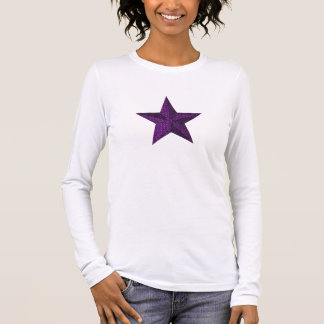 "Camiseta De Manga Larga ""Estrella de la púrpura real """