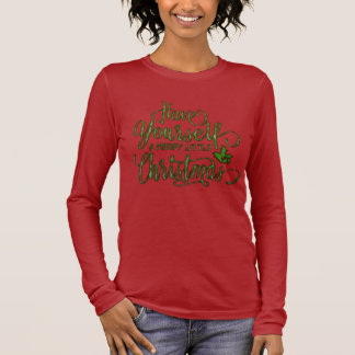 Camiseta De Manga Larga Felices pequeños Navidad