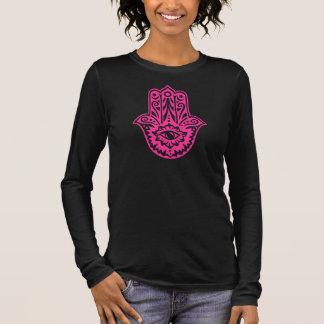 Camiseta De Manga Larga Hamsa - mano las Fatima protección símbolo -