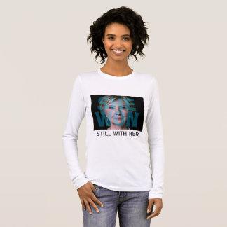 Camiseta De Manga Larga Hillary Clinton ganó a la mayoría