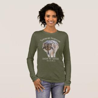 Camiseta De Manga Larga Lobo de madera de Alaska