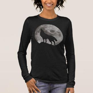 Camiseta De Manga Larga Lobo del grito