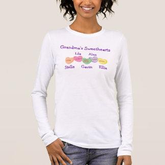 Camiseta De Manga Larga Los amores de la abuela - diseño del color claro