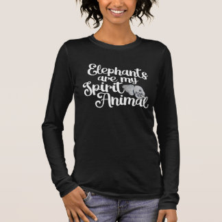 Camiseta De Manga Larga Los elefantes son mi animal del alcohol