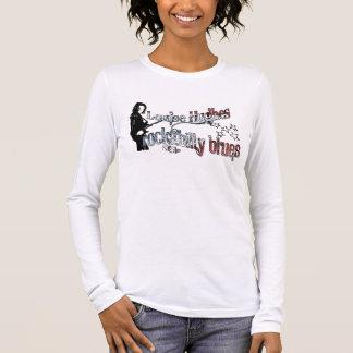 "Camiseta De Manga Larga Louise Hughes ""azules del Rockabilly """