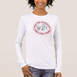 Camiseta De Manga Larga Marea para mujer para los colmillos Longsleeve