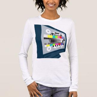 Camiseta De Manga Larga Modelo de prueba de la televisión del televisor de