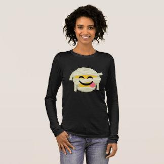 Camiseta De Manga Larga Momia divertida Bleh Emoji Halloween