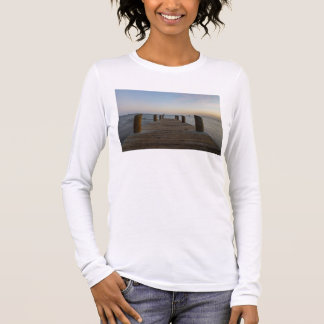 Camiseta De Manga Larga Muelle del río del plátano