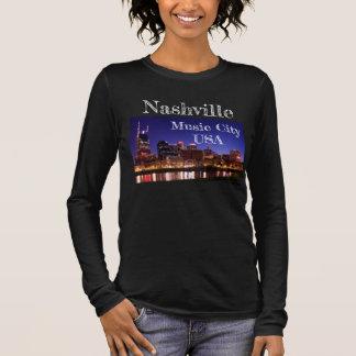 Camiseta De Manga Larga Nashville -- Ciudad los E.E.U.U. - T de la música
