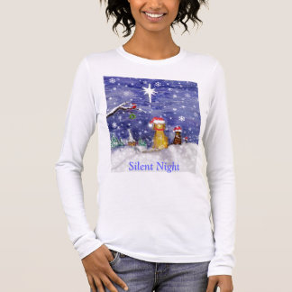 Camiseta De Manga Larga Noche silenciosa - noche santa
