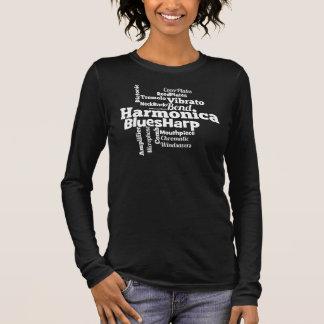 Camiseta De Manga Larga Nube de la palabra de la armónica