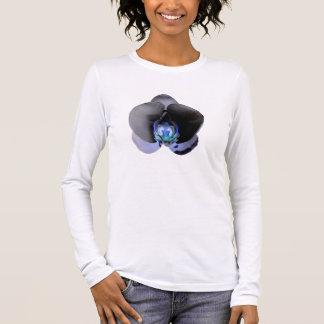 Camiseta De Manga Larga Orquídea negra