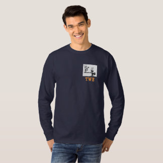 Camiseta de manga larga oscura