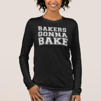 Camiseta De Manga Larga Panaderos que van a cocer