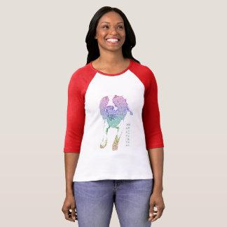 Camiseta de manga larga para mujer colorida del