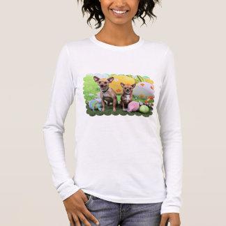 Camiseta De Manga Larga Pascua - Chipin Rockwell - chihuahua Rambo - Mahne