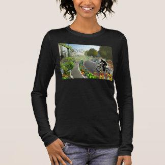 Camiseta De Manga Larga Quinto sagrado Biking en 2048 espiral del W.