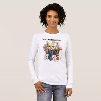 Camiseta De Manga Larga siga el conejo blanco