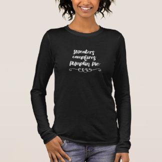 Camiseta De Manga Larga Suéteres, hogueras y pastel de calabaza